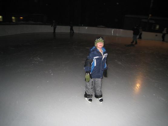 James skating